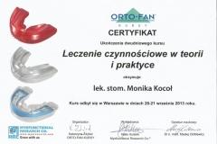 Certyfikat 20-21.09.2013