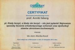 Certyfikat 23.11.2012