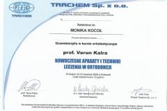 Certyfikat 24-25.04.2009