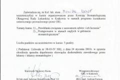 Certyfikat 25.11.2003