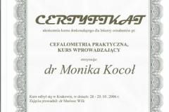 Certyfikat 28-29.05.2006