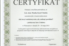 Certyfikat 29-30.05.2015